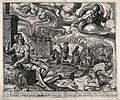 The torments of Job under a swirling sky dominated by God. E Wellcome V0034340.jpg