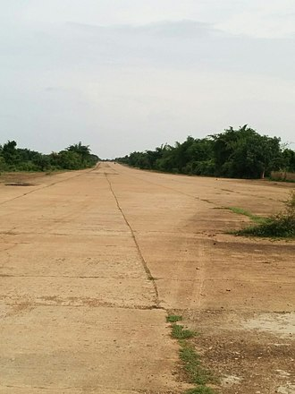 RAF Amarda Road - Image: The wide and straight long main air strip