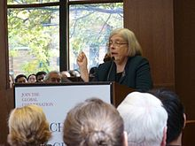 Theda Skocpol speaking about the Tea Party at the Munk School.jpg