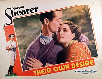 Robert Montgomery (actor) - Lobby card for Their Own Desire (1929)