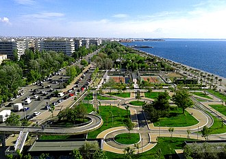 Outline of Greece - View of Thessaloniki