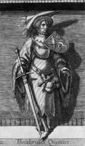 Historical representation of Dietrich V from 1578