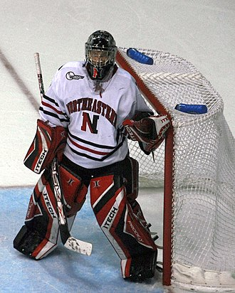Northeastern Huskies men's ice hockey - Brad Thiessen was named to the Hockey East All-Rookie team in 2007.
