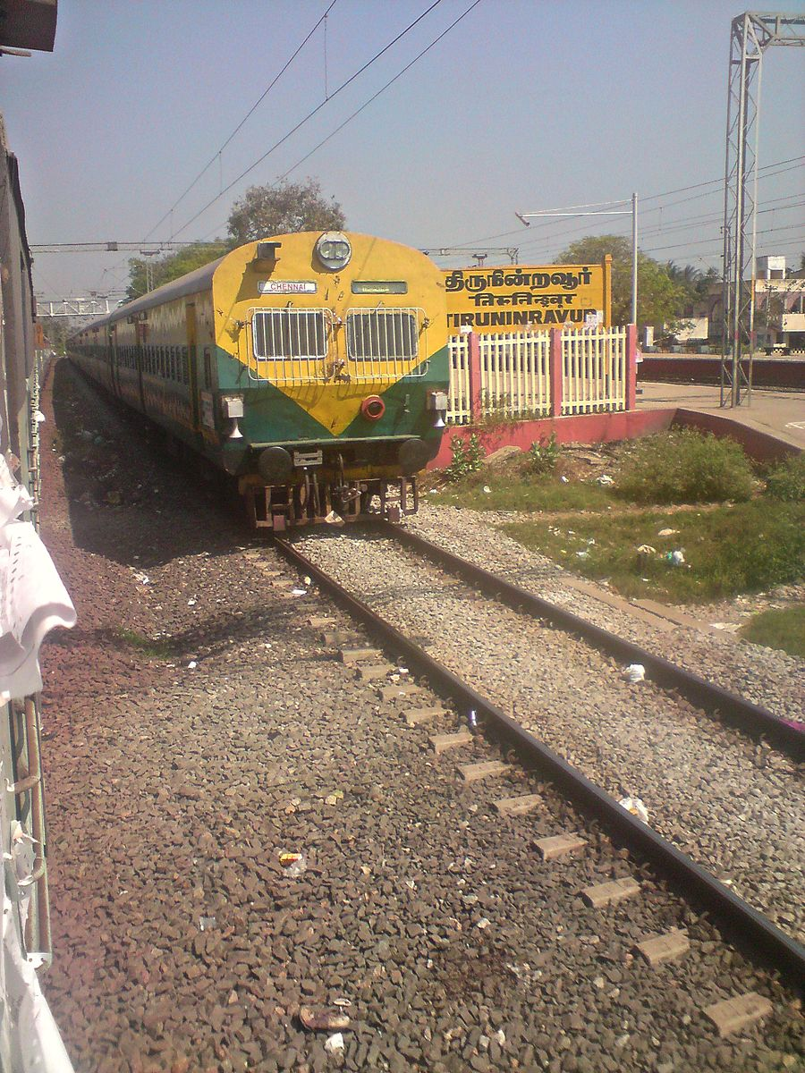 Thiruninravur railway station