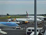 Thomas Cook Airlines (G-TCDF), Newcastle Airport, July 2014 (01).JPG