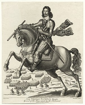 Thomas Fairfax - Sir Thomas Fairfax, Knight, line engraving, 1680. National Portrait Gallery, London