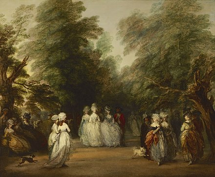 The Mall à St James's Park, vers 1783, Thomas Gainsborough, Frick Collection, New York.