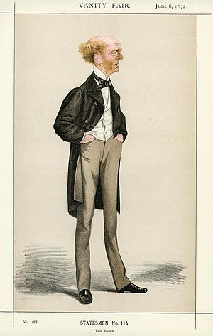 Thomas Hughes - Caricature by Adriano Cecioni published in Vanity Fair in 1872.