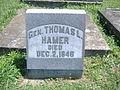Thomas L. Hamer Gravemarker.JPG