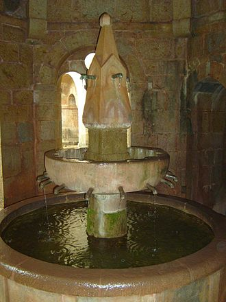 Fountain - Lavabo at Le Thoronet Abbey, Provence, (12th century)