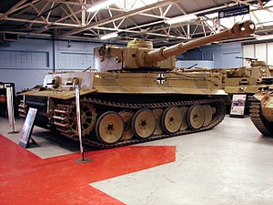 Tiger 131 - Tiger 131 at The Tank Museum in Bovington, England, 2008.