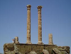 Ruinas romanas de Timgad, nombradas Patrimonio de la Humanidad por la UNESCO.