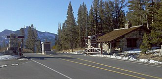Eastern entry station to Yosemite National Park Tioga Pass entry station.jpg