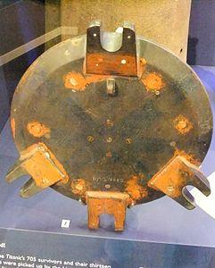 Titanic porthole casting pattern, Merseyside Maritime Museum.jpg