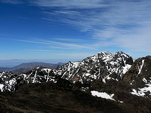 Atlas Mountains - Toubkal Mountain in Toubkal National Park in the High Atlas, Morocco