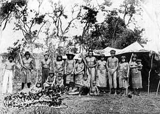 Guaycuru peoples - Tobas in Formosa Province, Argentina, 1892.