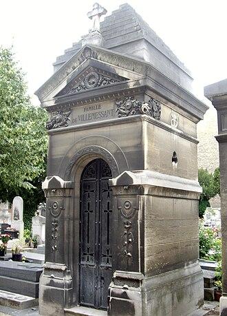 Hippolyte de Villemessant - His tomb in the Cimetière d'Auteuil in Paris