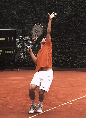 Tommy Haas - Haas at the public training for the World Team Cup in Düsseldorf, Germany, 2005