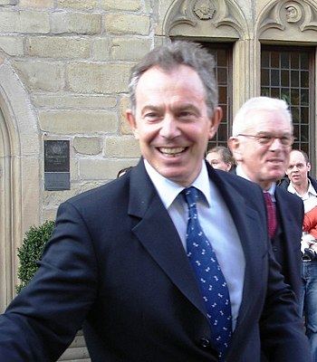 English: British Prime Minister Tony Blair. (C...