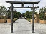 Torii of Tetsudo Shrine on top of Hakata Station 2.jpg