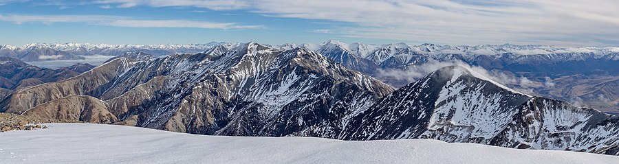 Torlesse Range from Mt Torlesse, New Zealand