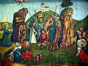 Secret handshake - Judas Iscariot betrays Jesus with a kiss