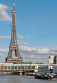 Tour Eiffel as seen from Ile aux Cygnes, 3 February 2014.jpg