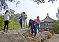 Tourists taking pictures of each other atop Longevity Hill, Summer Palace, Beijing.jpg