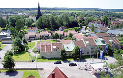 View over Skene (the urban district of Kinna)