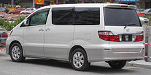Toyota Alphard (first generation) (rear, white), Serdang.jpg