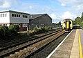 Train approaching Brundall railway station - geograph.org.uk - 1531833.jpg