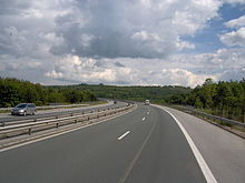 Trakiya motorway, one of the main national motorways
