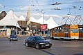 Tram in Sofia in front of Central Railway Station 2012 PD 014.jpg