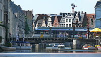 Tramway de Gand - Rame Hermelijn à Rekelingestraat sur le Vleesjuisbrug.JPG