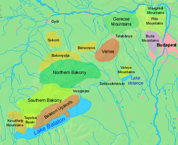 balatoni tanúhegyek térkép Dunántúli középhegység – Wikipédia
