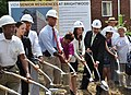 Treasurer Rios at a groundbreaking on new Vida Senior Residence funded in part by the Recovery Act, 7-27-2010 (4834611197).jpg