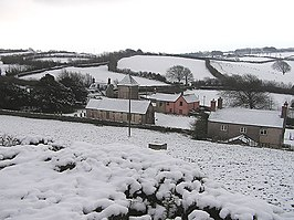 Treborough and church in the snow - geograph.org.uk - 127875.jpg