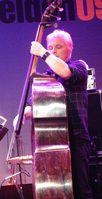 English: Trevor Dunn live at Saalfelden 2009 I...
