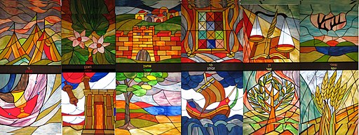 Tribes of Israel Stained glass