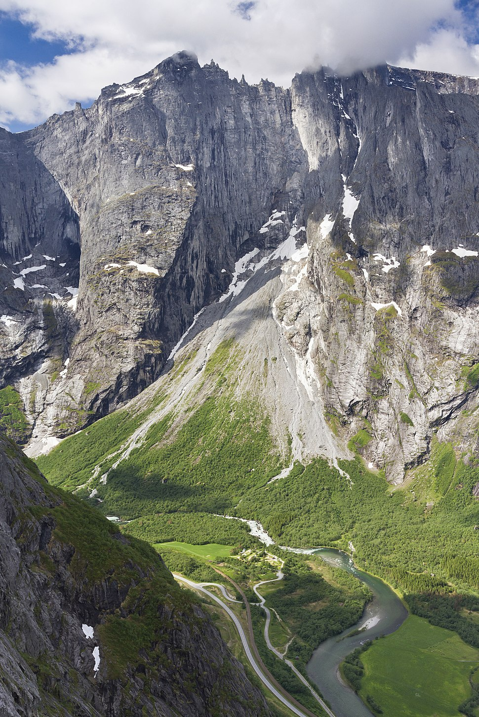 Trollryggen and Trollveggen from Litlefjellet, 2013 June
