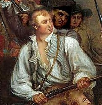Andrew McClary - Detail of McClary from Trumbull painting. Major McClary was the last American soldier to fall during the Battle of Bunker Hill.