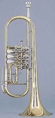 trumpet in C with rotary valves
