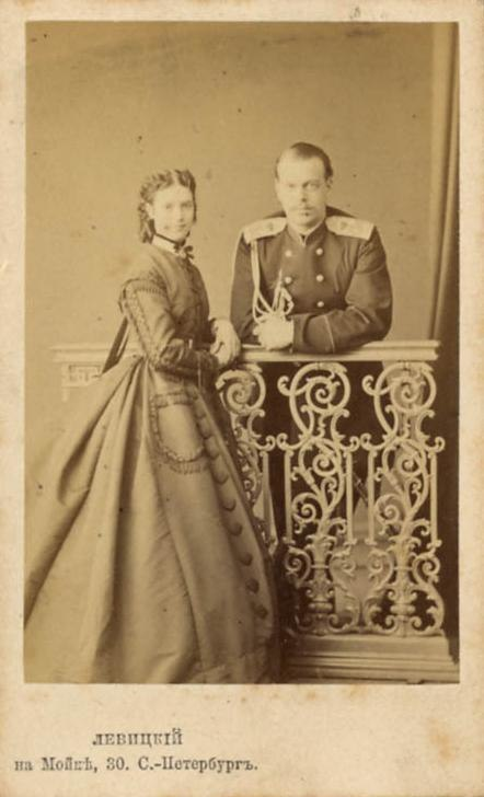 Tsarevitch Alexander later Alexander III and Princess Dagmar of Denmark 1865 by Sergei Levitsky