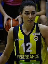 Tuğçe Canıtez Fenerbahçe Women's Basketball vs Mersin Büyükşehir Belediyesi (women's basketball) TWBL 20180121.jpg