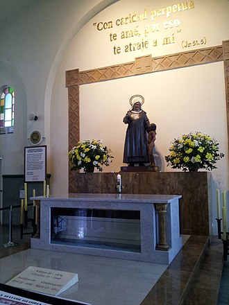 Laura of Saint Catherine of Siena - Sanctuary with her tomb in Medellin.