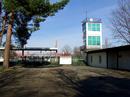 Turm und Eingangstor des ehemaligen Max-Reimann-Stadions (Sportzentrum Cottbus)