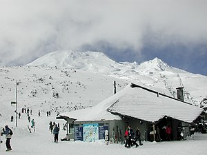 Turoa - Base of Turoa skifield in winter
