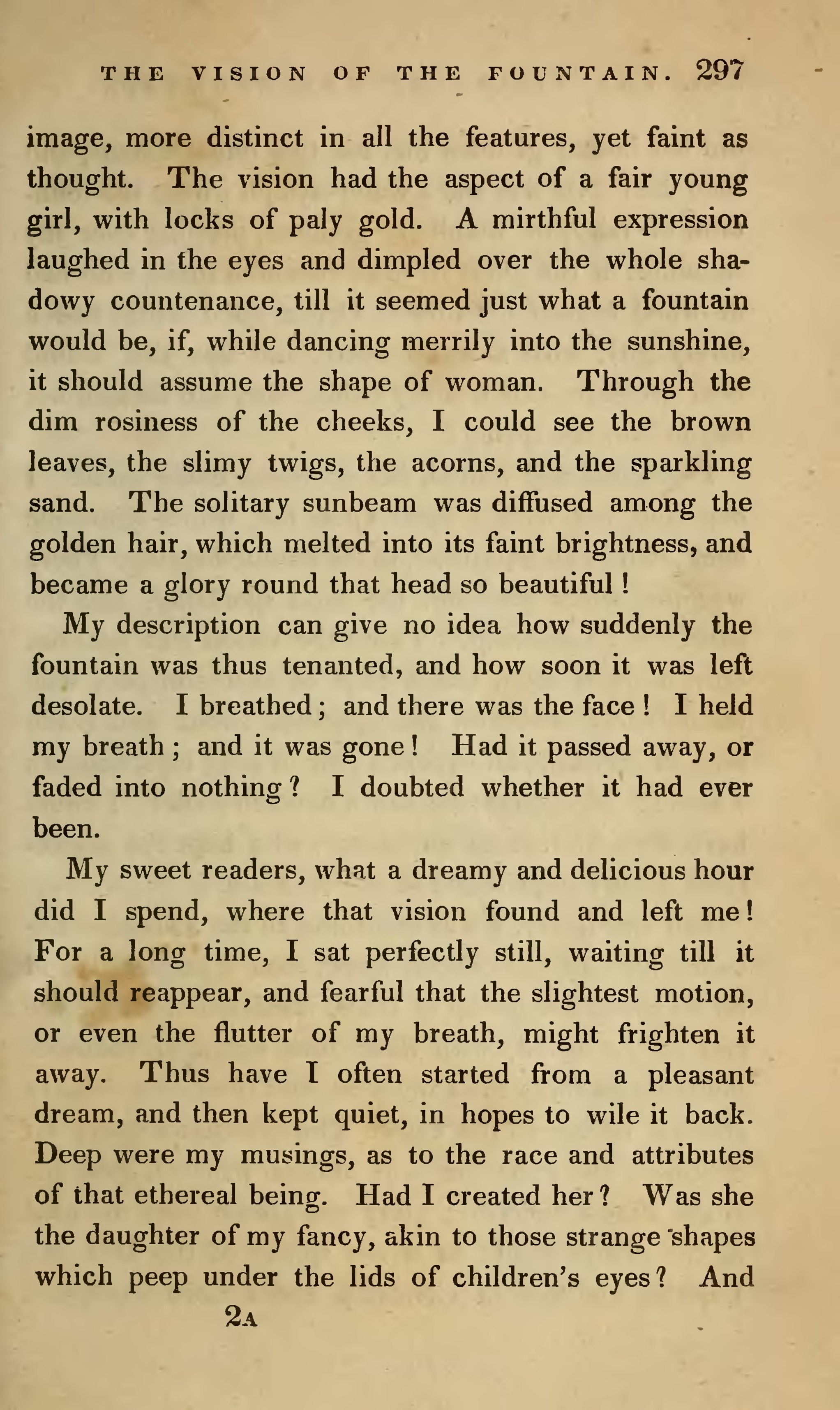 The Vision of the Fountain (From Twice Told Tales)