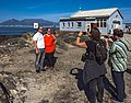 Two Dutch Wikimedians photographing two other Dutch Wikimedians on Robben Island.jpg