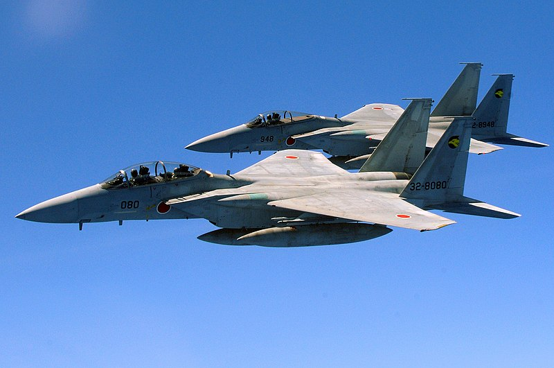 File:Two Japan Air Self Defense Force F-15 jets.jpg